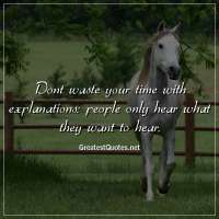 Dont waste your time with explanations: people only hear what they want to hear.