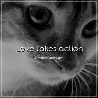 Love takes action.