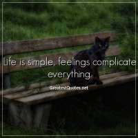 Life is simple, feelings complicate everything